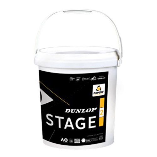 Dunlop Stage 2 Bucket 60 Balls Yellow / Orange