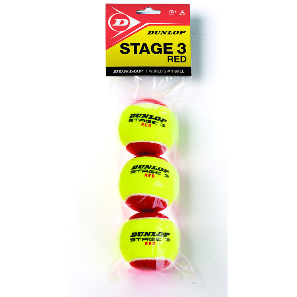 Dunlop Stage 3 Bag 12 Balls Yellow / Red