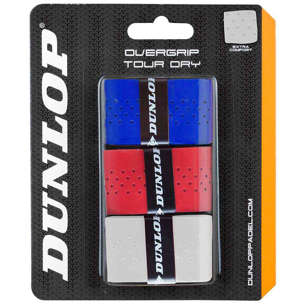 Dunlop Tour Dry 3 Units One Size White / Red / Blue