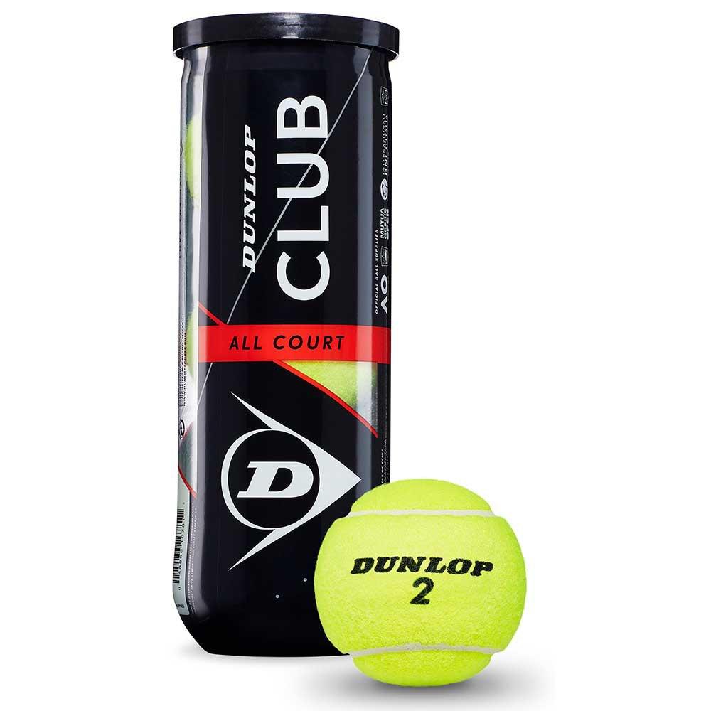 Dunlop Club All Court 3 Balls Yellow