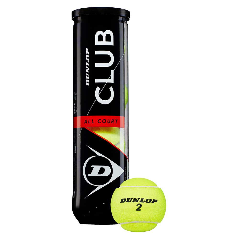 Dunlop Club All Court 4 Balls Yellow