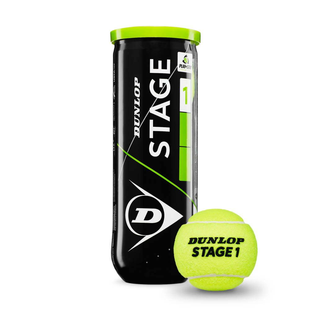 Dunlop Stage 1 3 Balls Yellow / Green