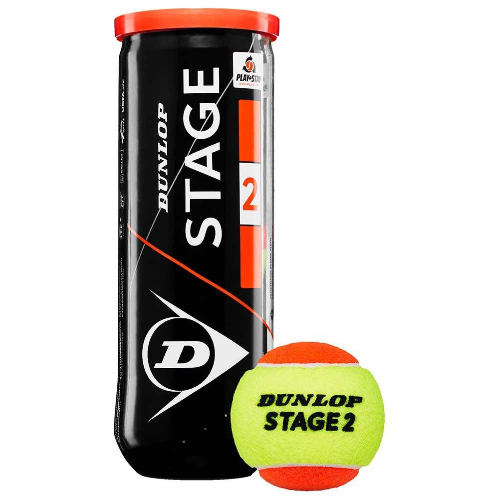 Dunlop Stage 2 3 Balls Yellow / Orange