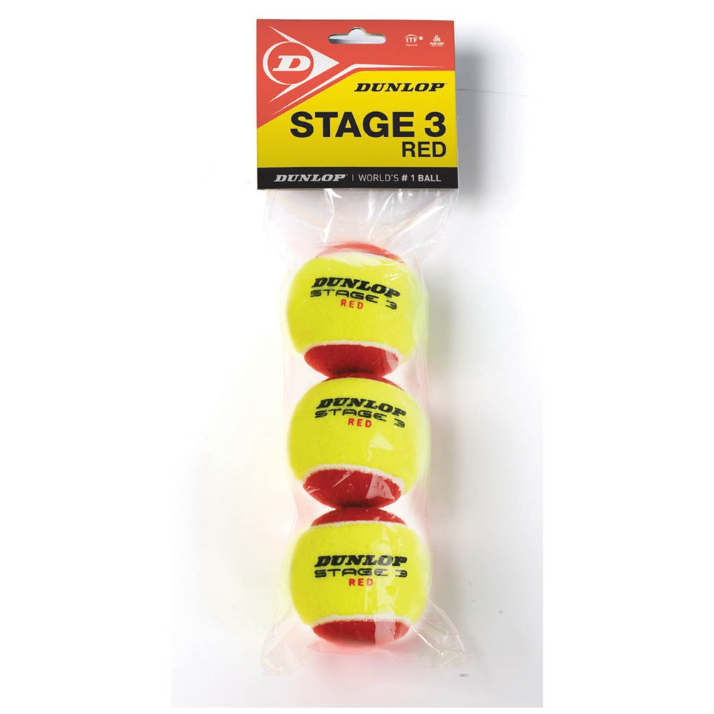 Dunlop Stage 3 3 Balls Yellow / Red