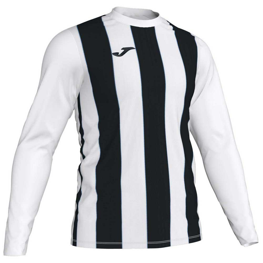 Joma Inter T-shirt Manche Longue S White / Black