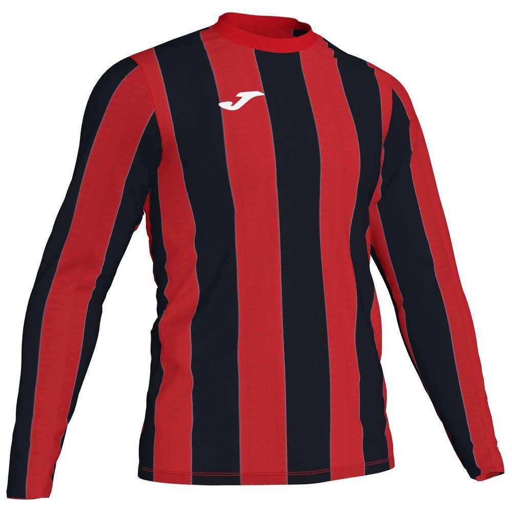 Joma Inter T-shirt Manche Longue S Red / Black