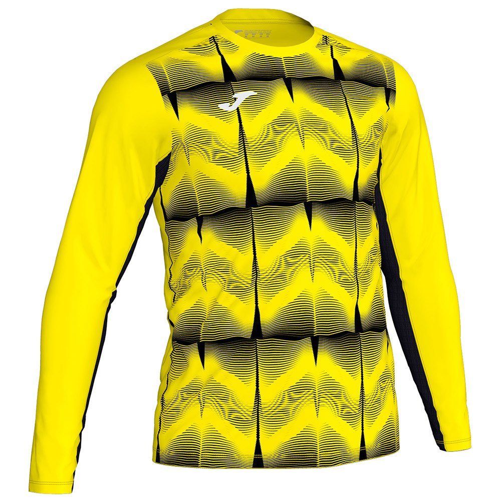 Joma Derby Iv T-shirt Manche Longue 4-6 Years Yellow Fluor