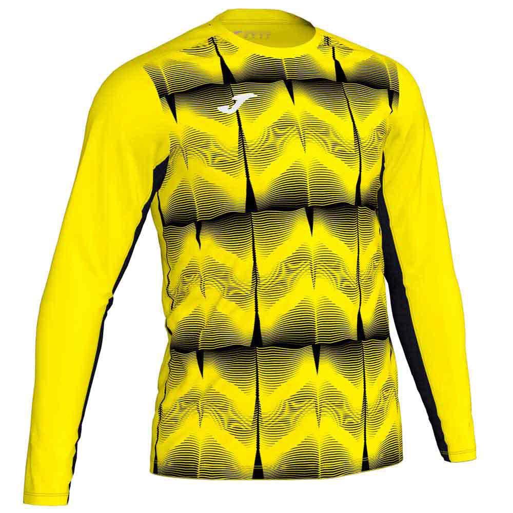 Joma Derby Iv T-shirt Manche Longue S Yellow Fluor