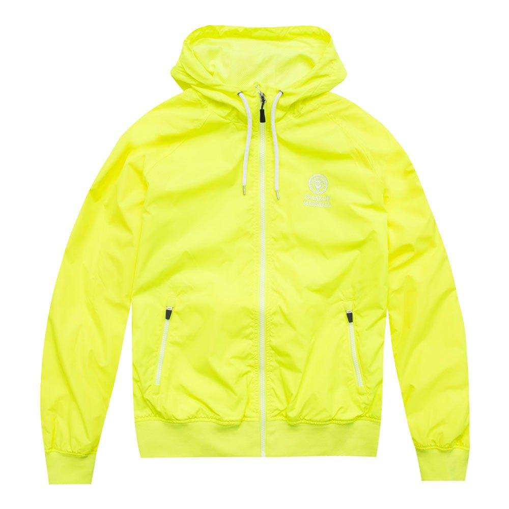 Franklin&marshall Nylon Zip+hood Long L Safety Yellow