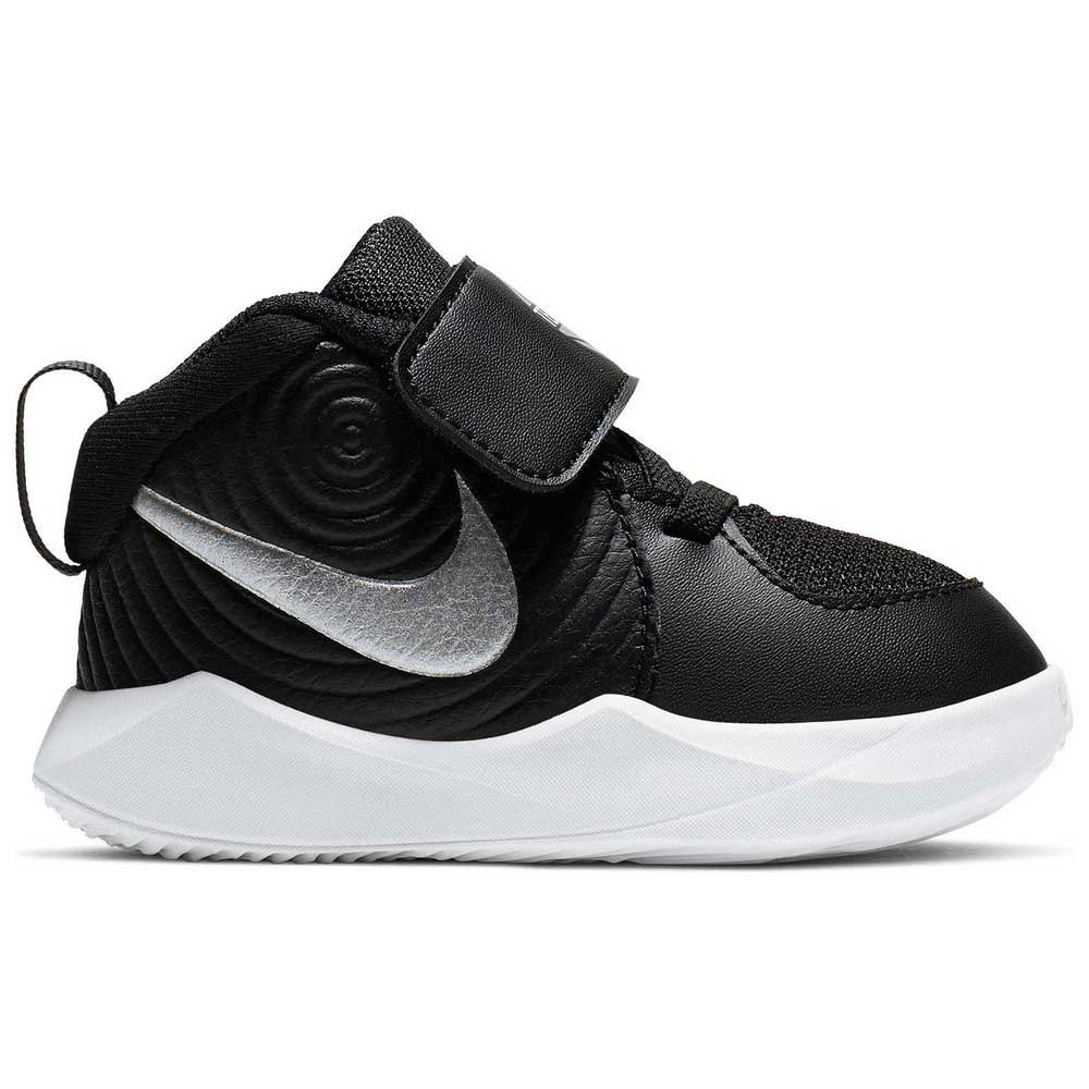Nike Team Hustle D 9 Td EU 17 Black / Metallic Silver / Wolf Grey / White