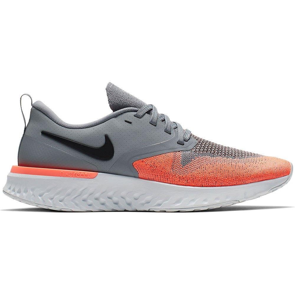 Nike Odyssey React 2 Flyknit EU 38 1/2 Cool Grey / Black / Bright Mango