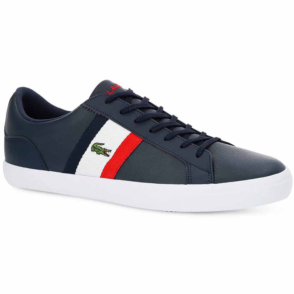 Lacoste Lerond Tumbled Leather EU 40 1/2 Navy / White / Red