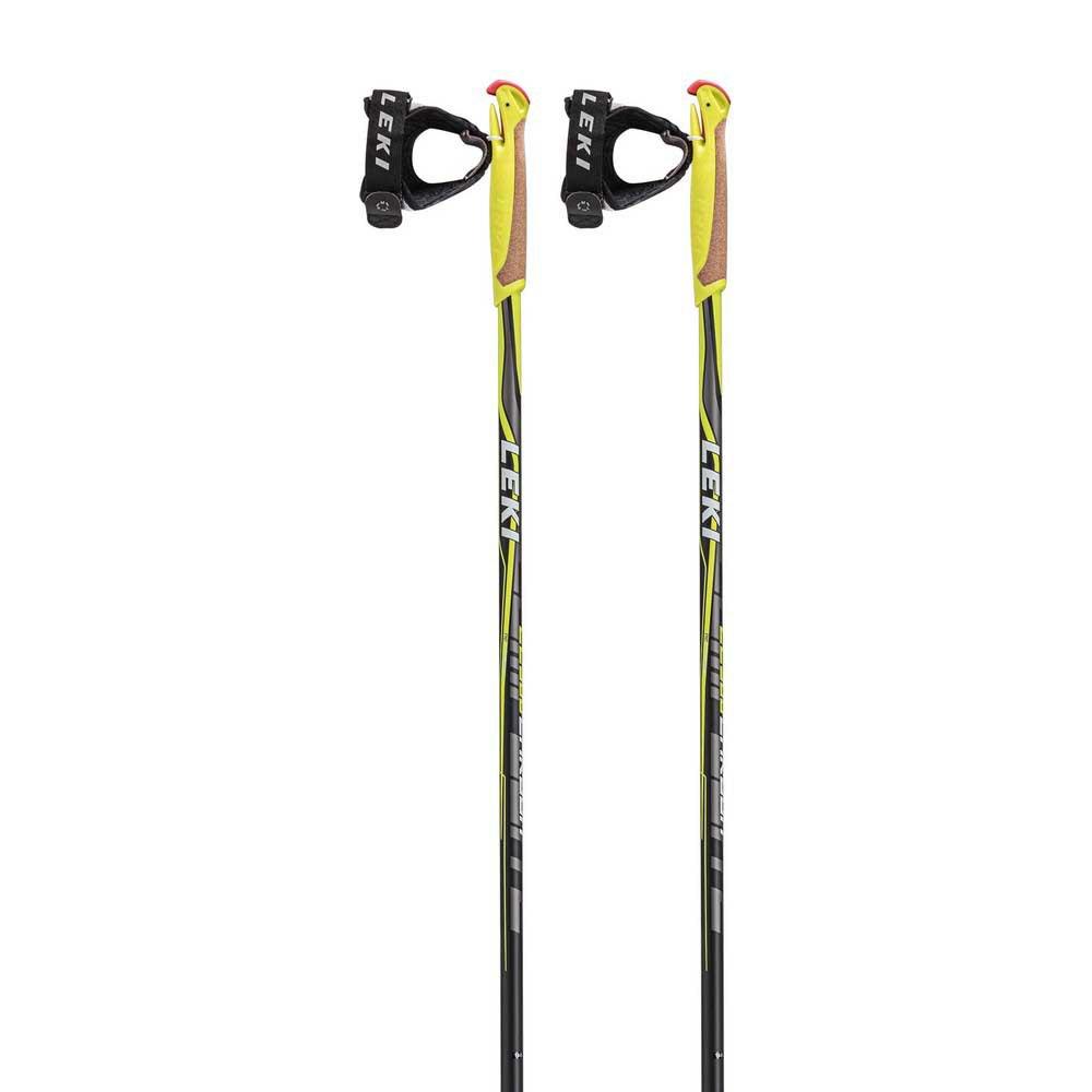 Leki Alpino Cc 300 135 cm Black / White / Yellow / Anthracite