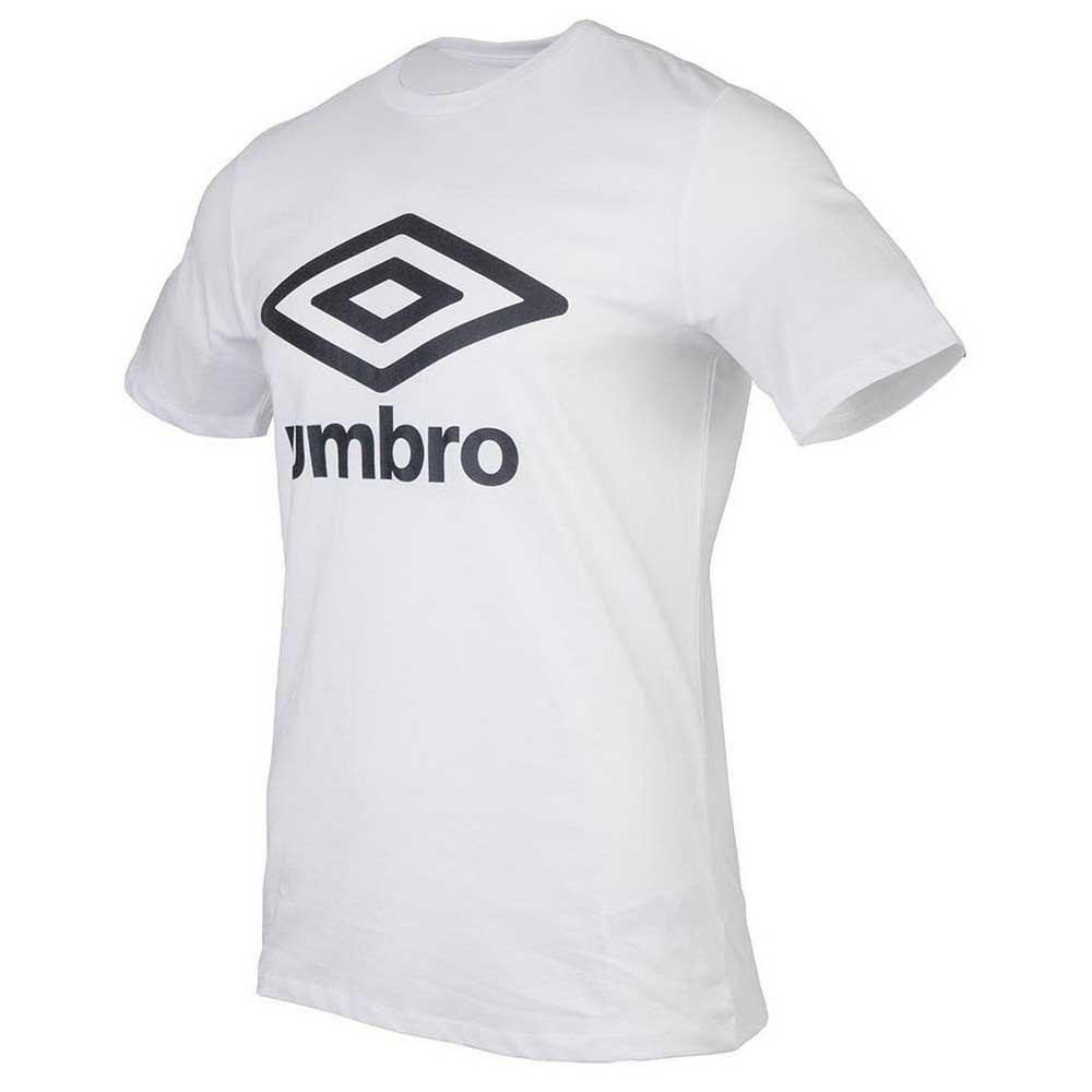 Umbro T-shirt Manche Courte Football Wardrobe Large Logo S Brilliant White
