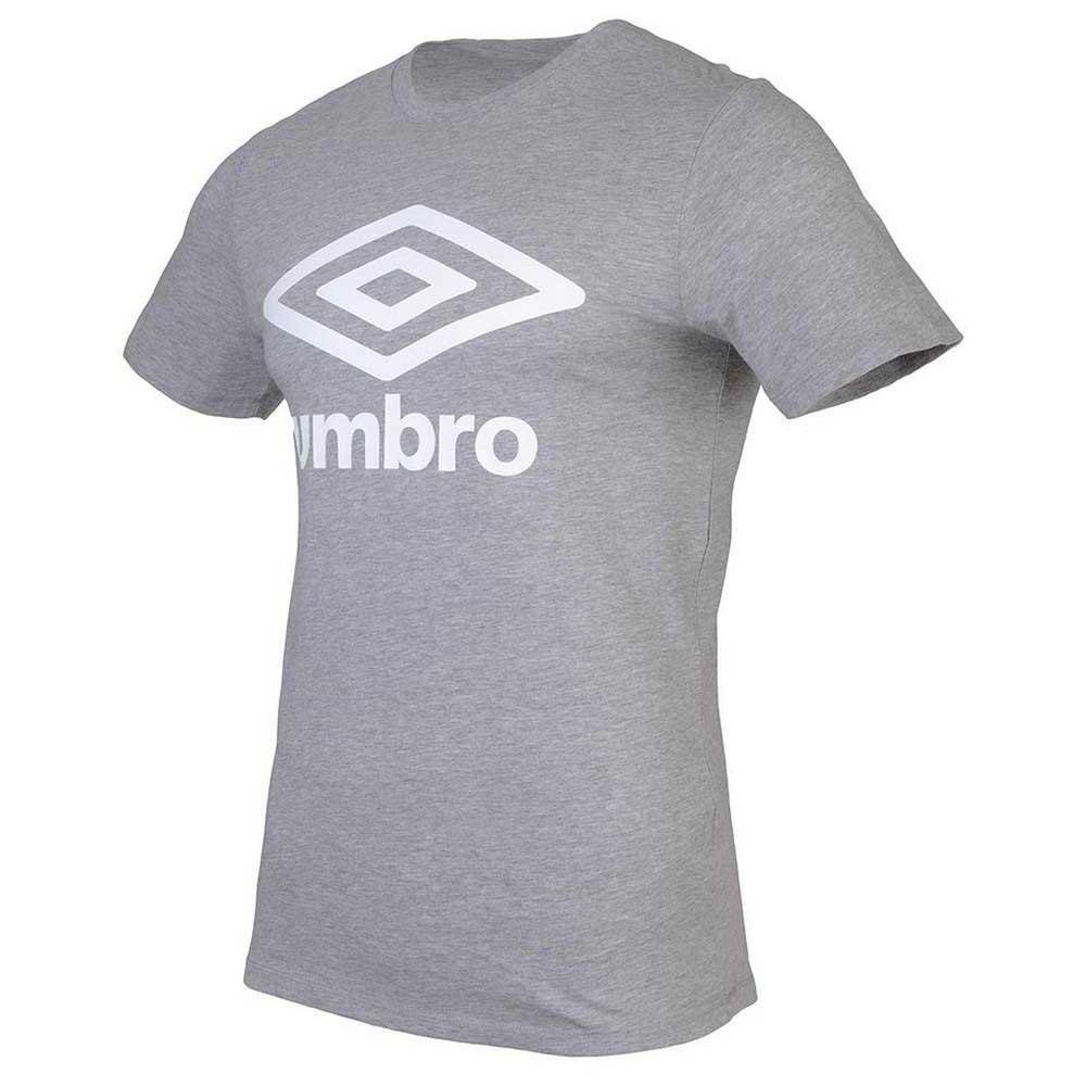 Umbro T-shirt Manche Courte Football Wardrobe Large Logo S Grey Marl
