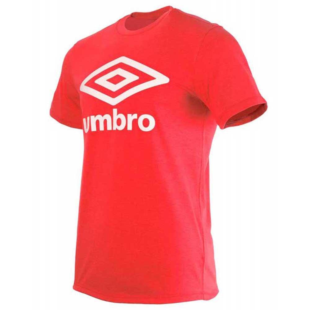 Umbro T-shirt Manche Courte Football Wardrobe Large Logo S Goji Berry