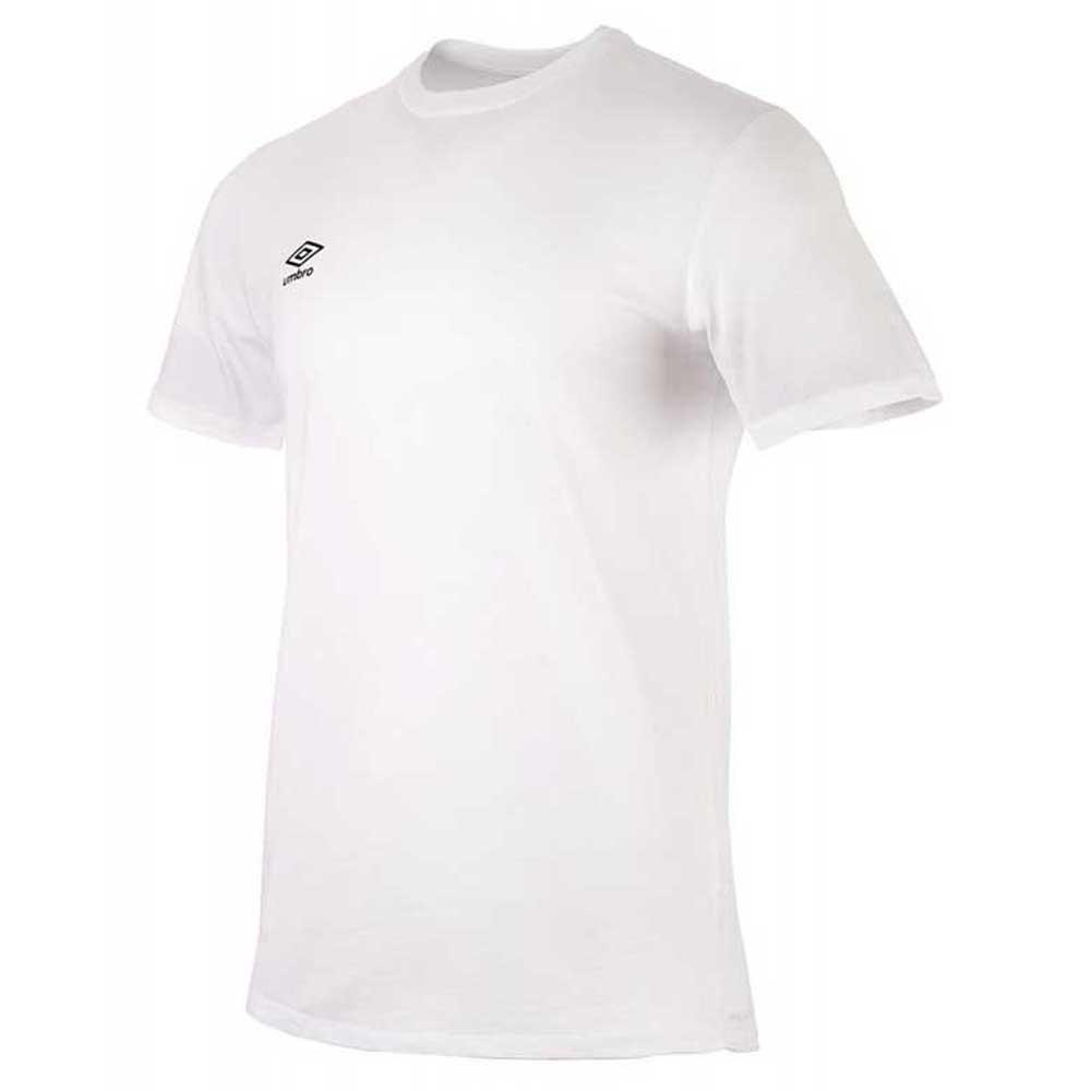 Umbro T-shirt Manche Courte Football Wardrobe Small Logo S Brilliant White