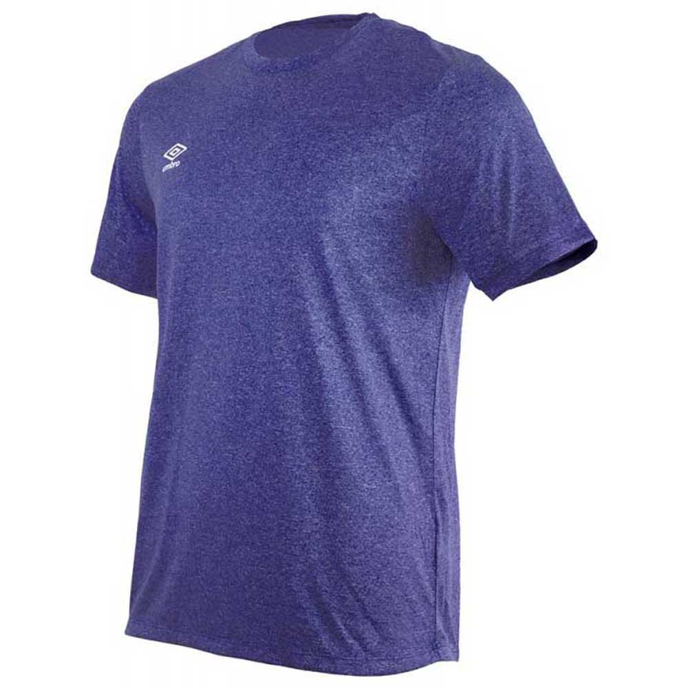 Umbro T-shirt Manche Courte Football Wardrobe Marl Crew Training Small Logo S Dark Navy Marl