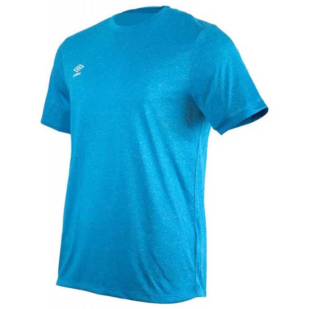 Umbro T-shirt Manche Courte Football Wardrobe Marl Crew Training Small Logo S Ibiza Blue Marl