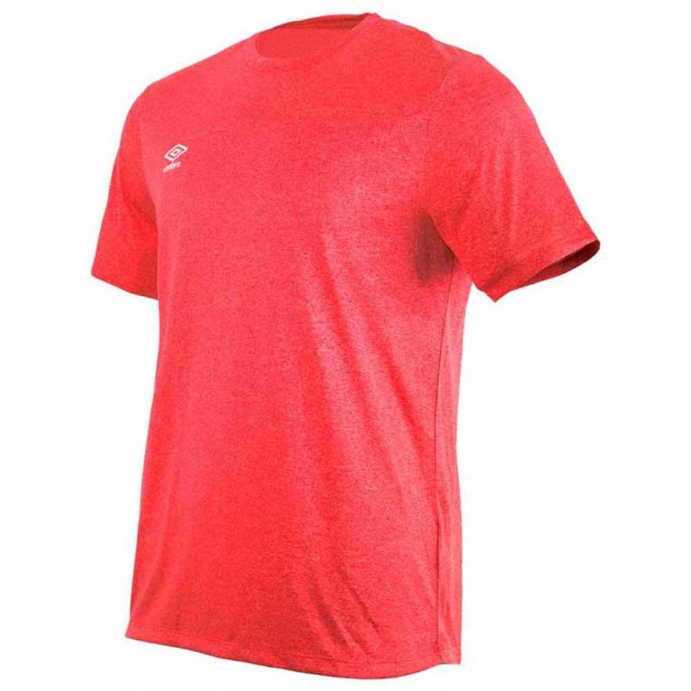 Umbro T-shirt Manche Courte Football Wardrobe Marl Crew Training Small Logo S Goji Berry Marl