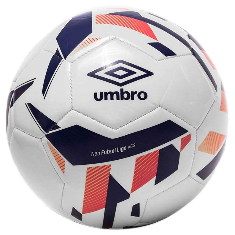Umbro Ballon Football Salle Neo Liga 4 White / Spectrum Blue / Bright Marigold / Teaberry