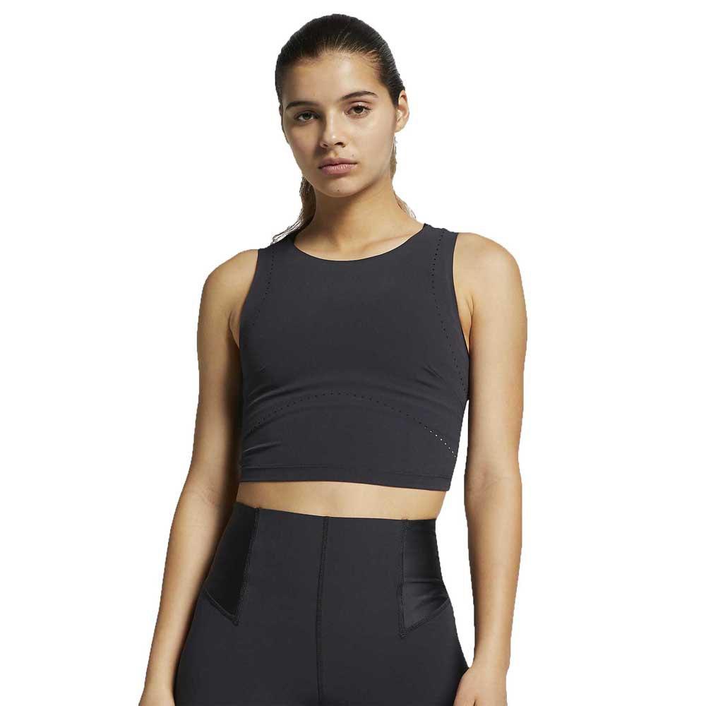 Nike T-shirt Sans Manches Training Tech Pack Str L Oil Grey / Black