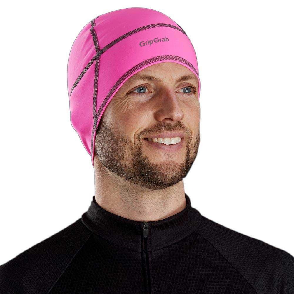 Gripgrab-Skull-Cap-Hi-vis-Pink-T88046-Headwear-Male-Pink-Headwear-GripGrab thumbnail 6