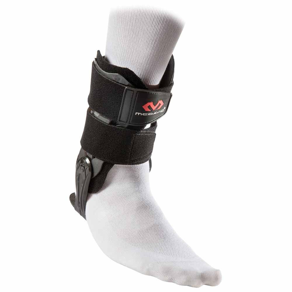 Mc David Ankle V Brace With Flexible Hinge L Black