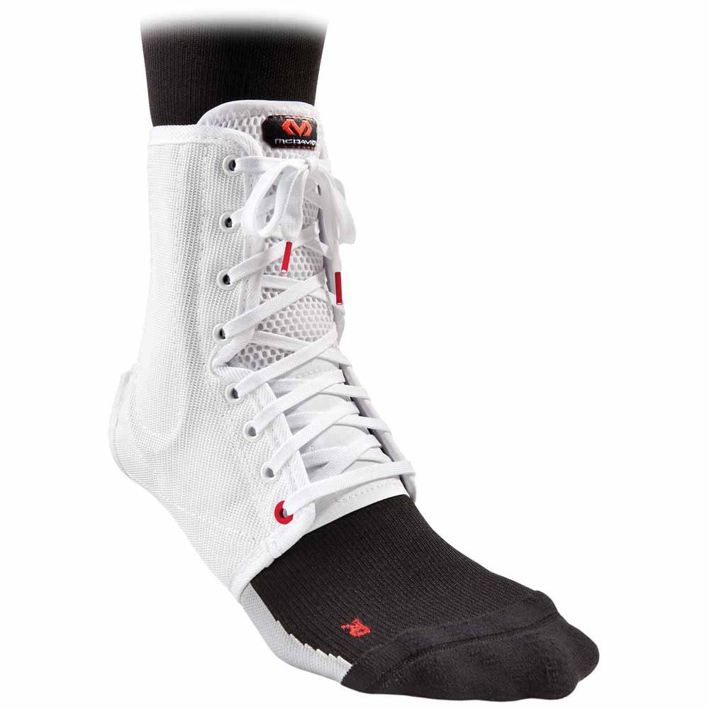 Mc David Ankle Brace/lace-up With Stays L White