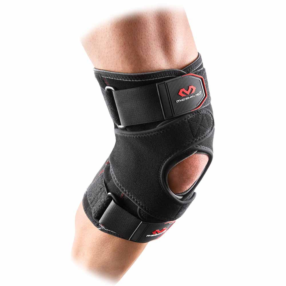 Mc David Vow Knee Wrap With Stays And Straps M Black