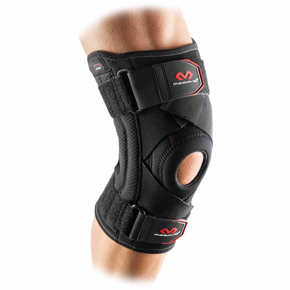 Mc David Knee Support With Stays And Cross Straps L Black