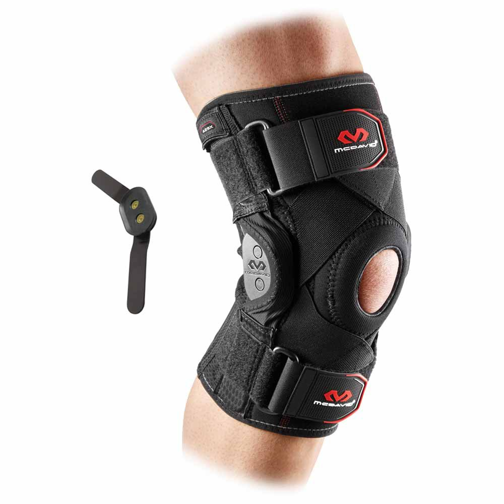Mc David Knee Brace With Polycentric Hinges And Cross Straps L Black