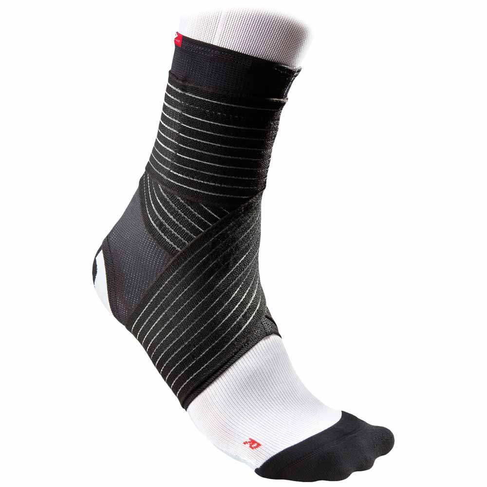 Mc David Ankle Support Mesh With Straps L Black