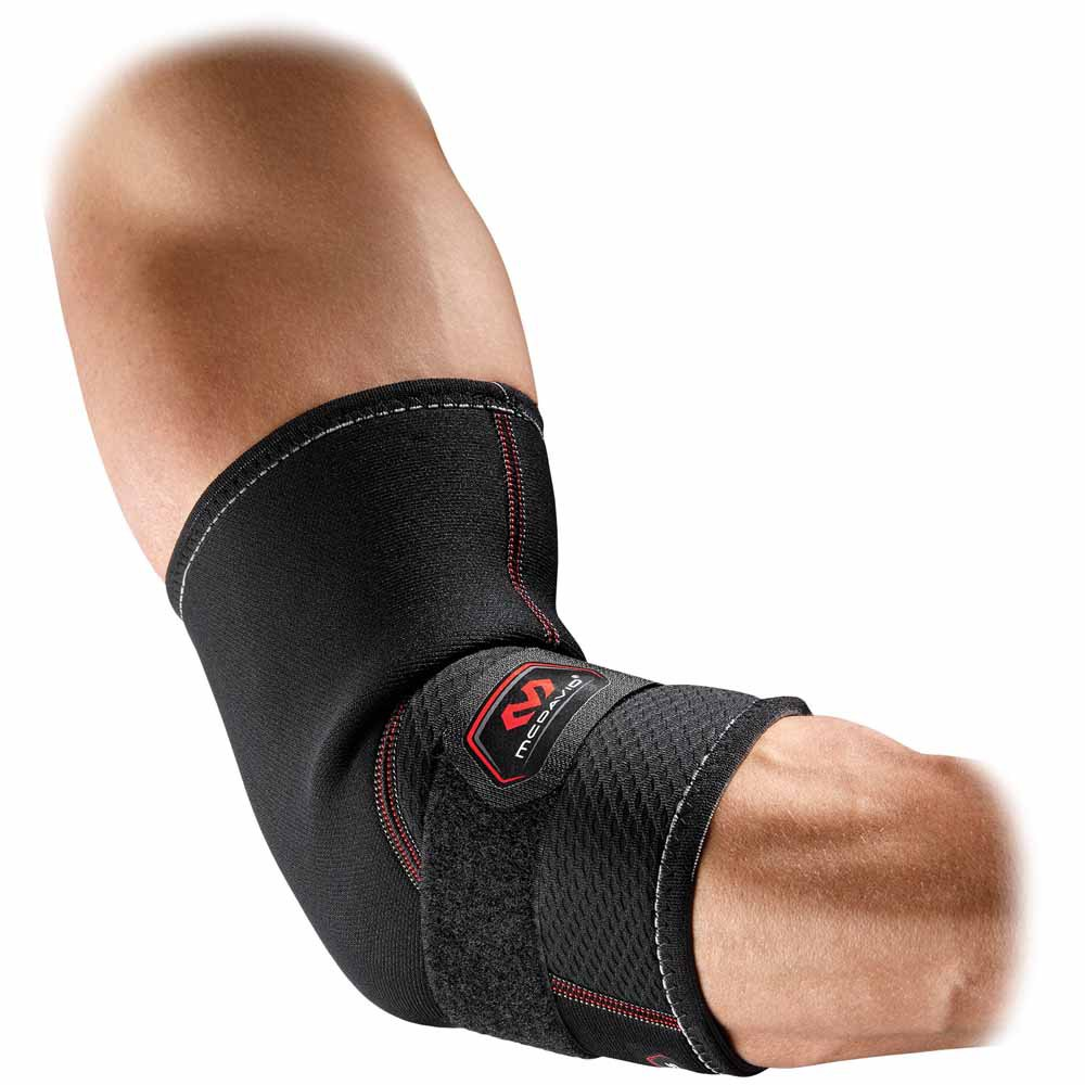 Mc David Tennis Elbow Support With Strap L Black