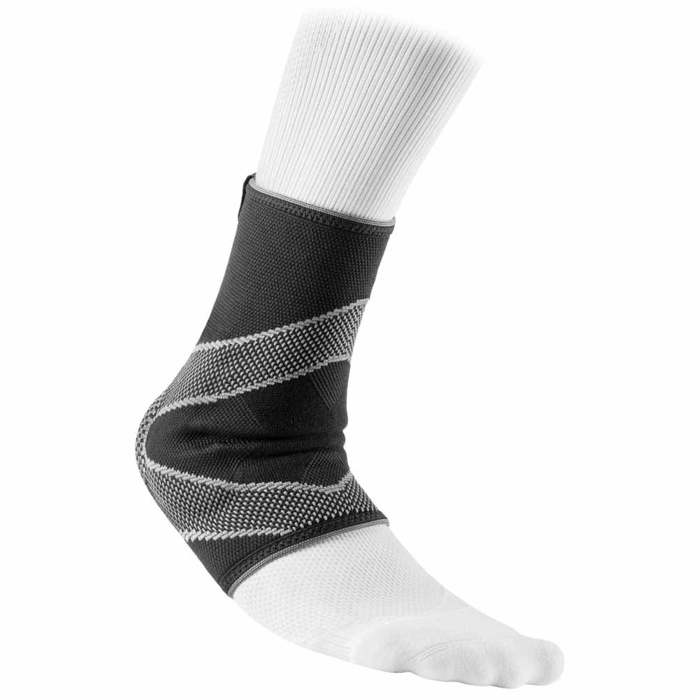 Mc David Ankle Sleeve With 4-way Elastic With Gel Buttresses L Black