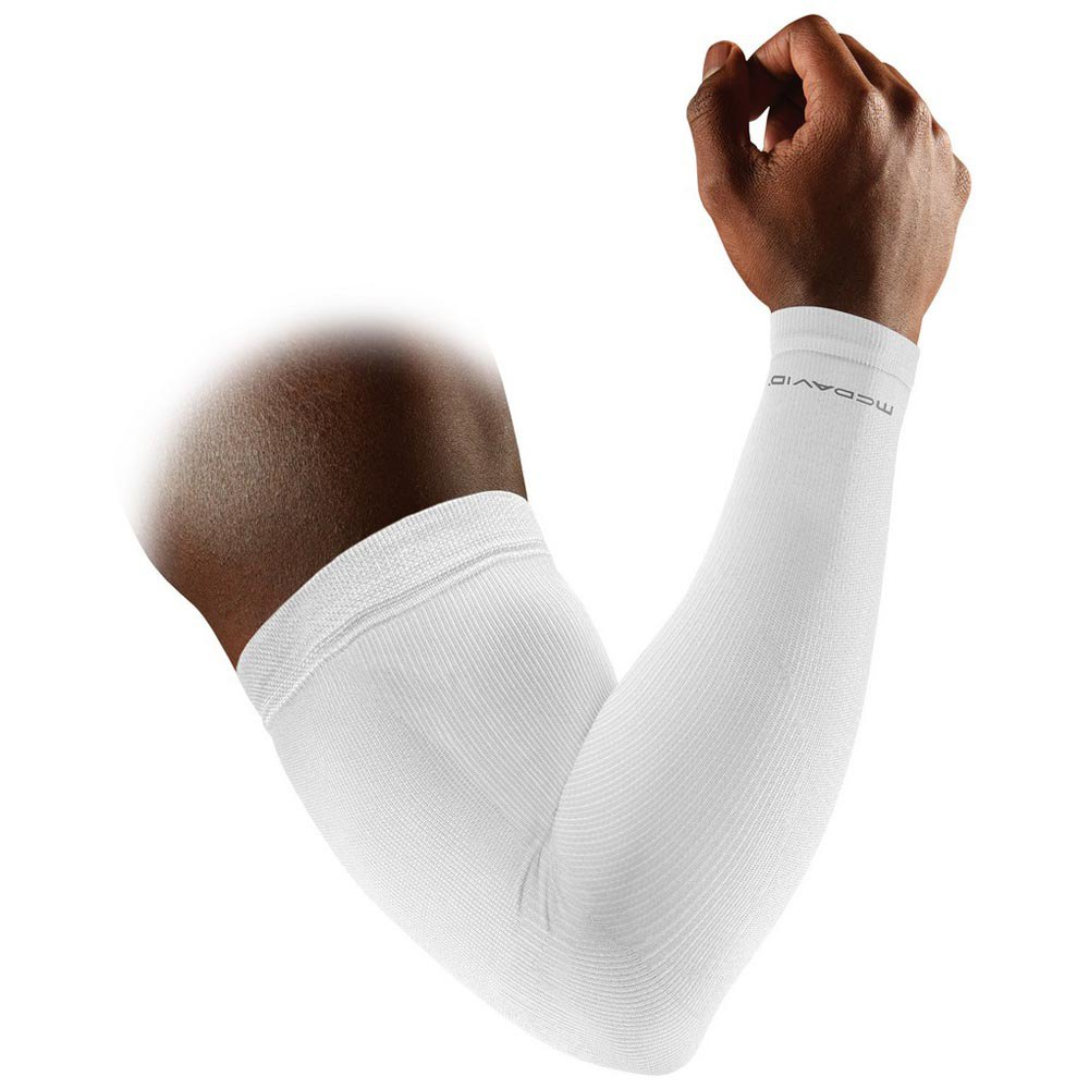 Mc David Elite Compression Arm Sleeves S White