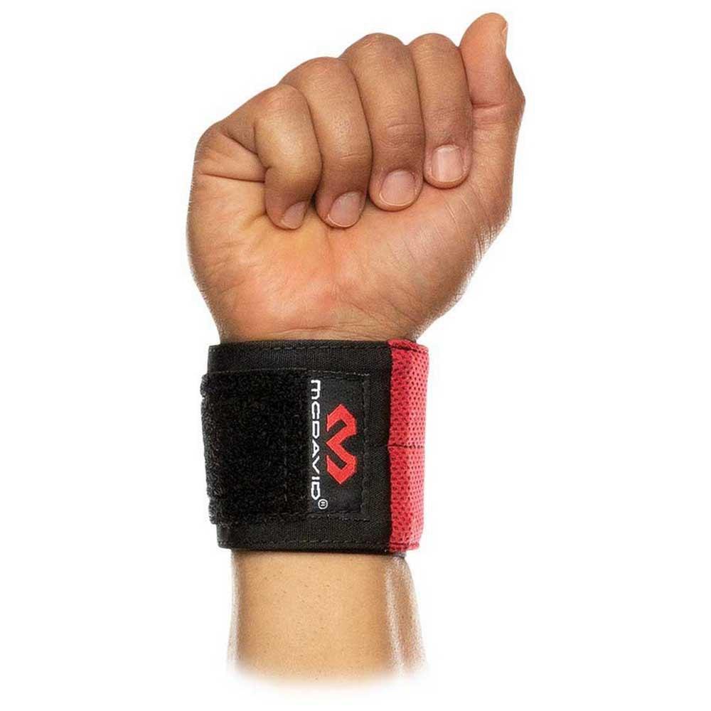 Mc David X-fitness Flex Fit Wrist Wraps One Size Black / Scarlet
