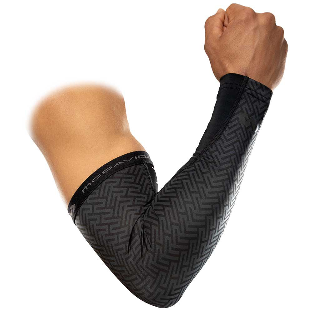 Mc David X-fitness Dual Layer Compression Arm Sleeves XL Black