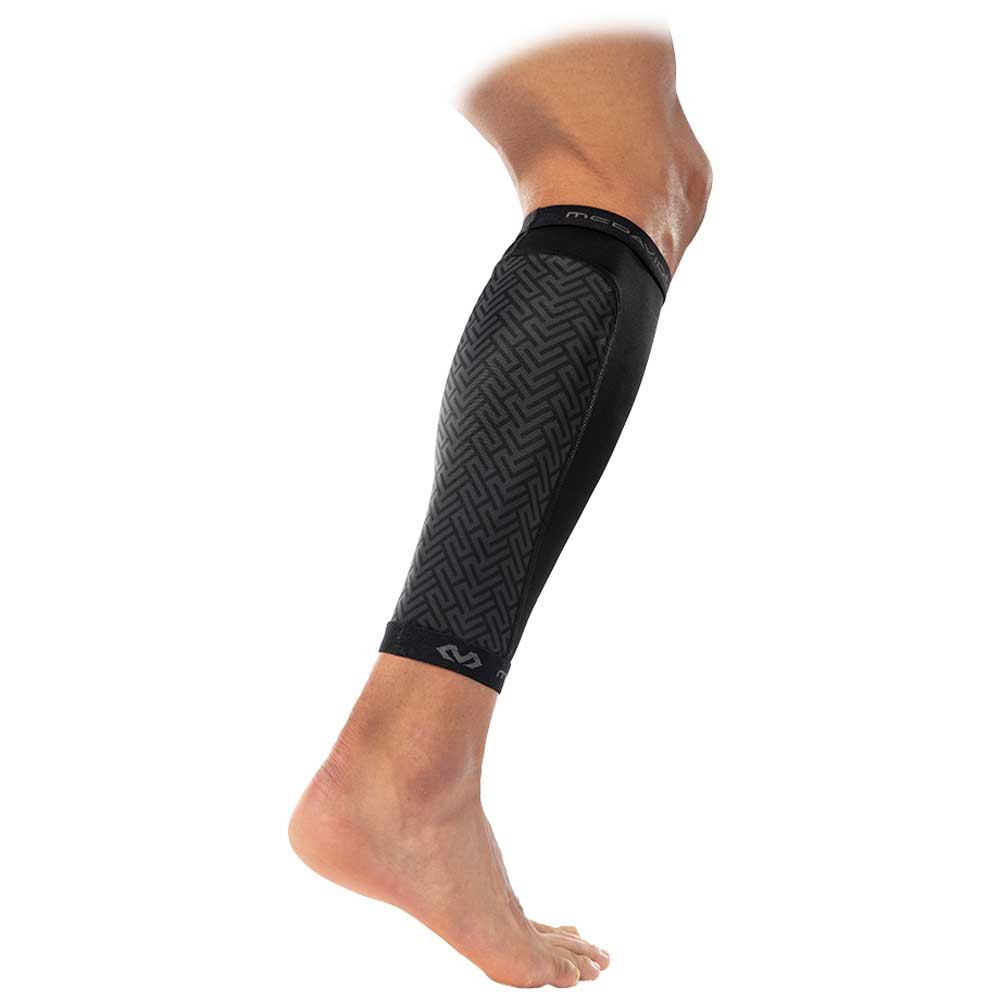 Mc David X-fitness Dual Layer Compression Calf Sleeves M Black