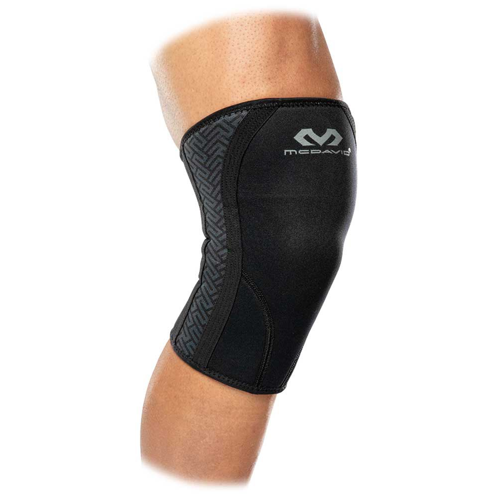 Mc David X-fitness Dual Density Knee Support Sleeves M Black