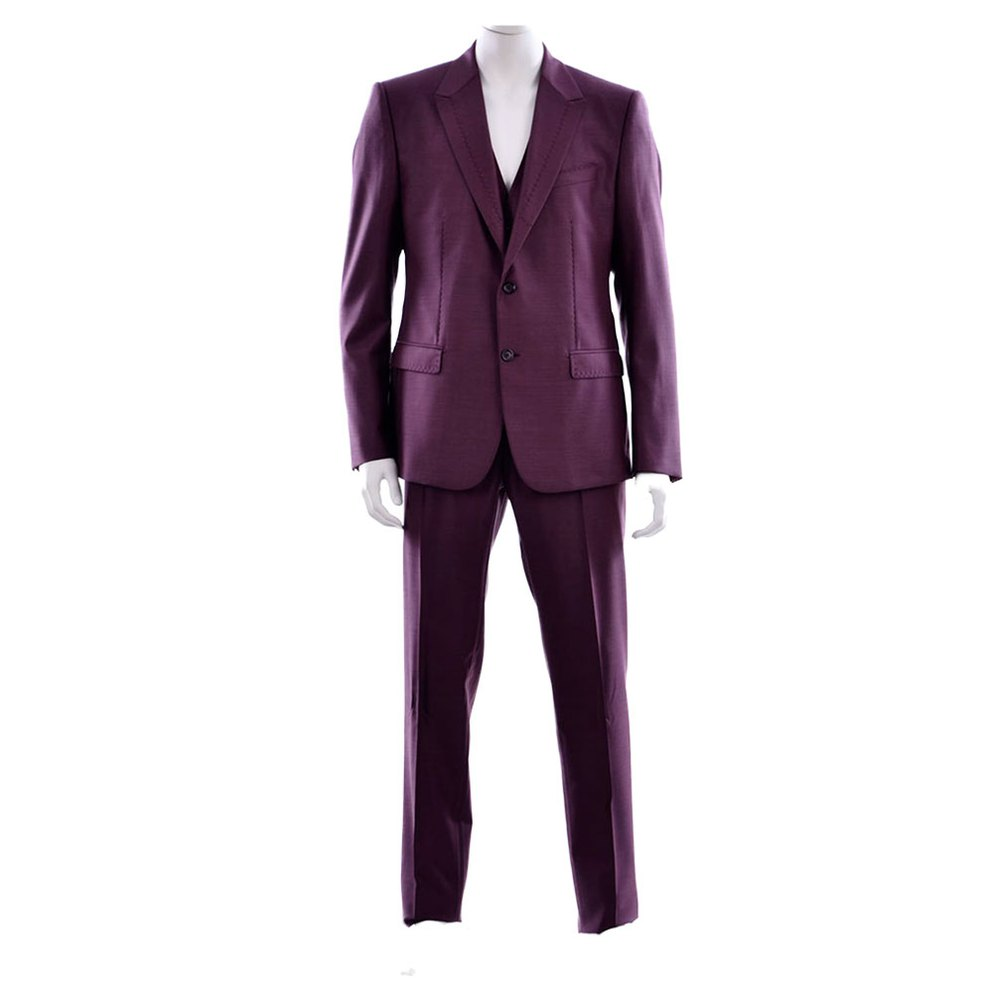 Dolce & Gabbana 2 Buttons Suit 56 Dark Red