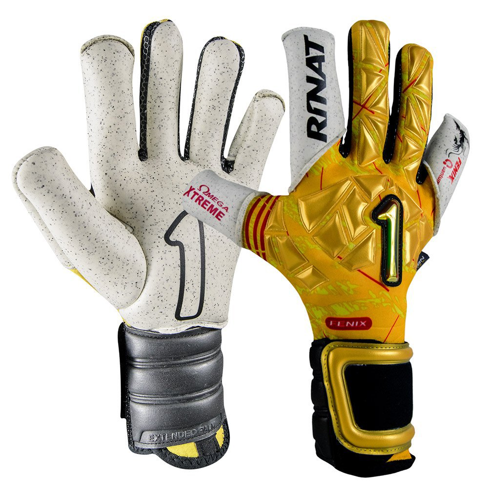 Rinat Fenix Quantum Gold Goalkeeper Gloves 7 Gold / White / Black