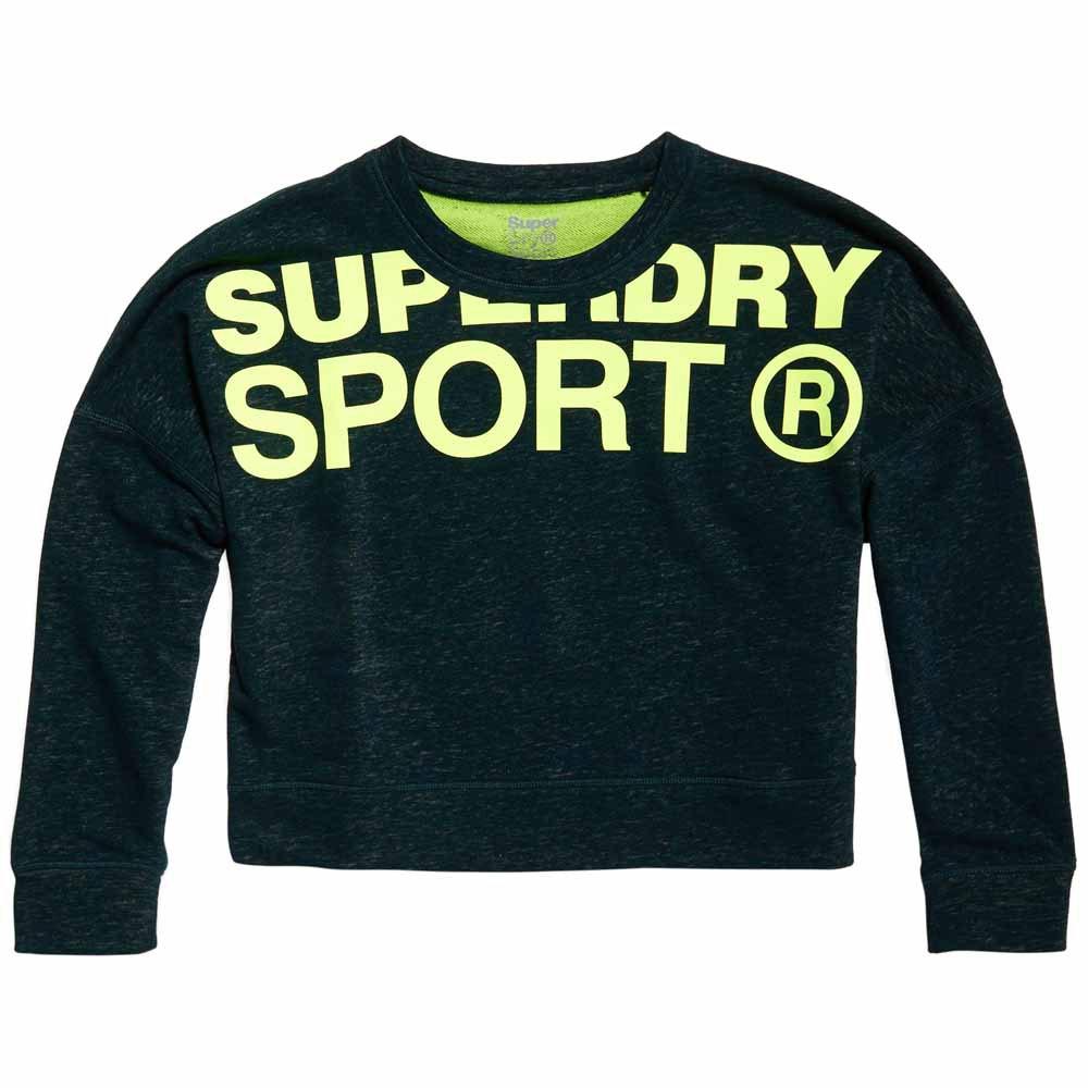 Superdry Sweatshirt Active Batwing Crop M Botanical Green / Lemonade