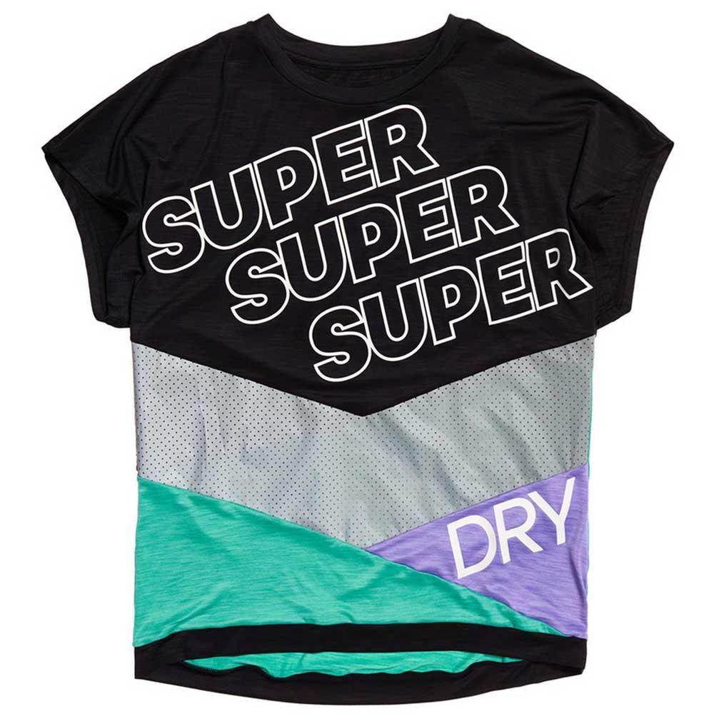 Superdry T-shirt Manche Courte Super Sport XS Black / Mochi Green