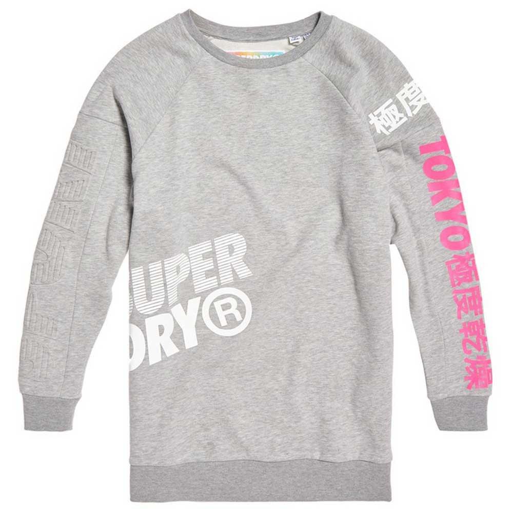 Superdry Japan Edition Oversize XXS Grey Marl