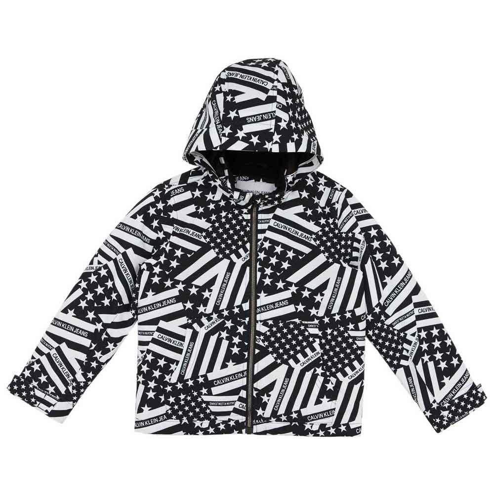 Calvin Klein Jeans Flag Print Hood 16 Years Black