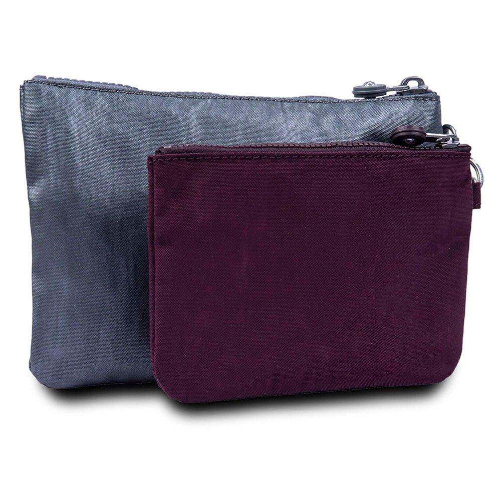 kipling-duo-pouch-one-size-steel-grey-metal
