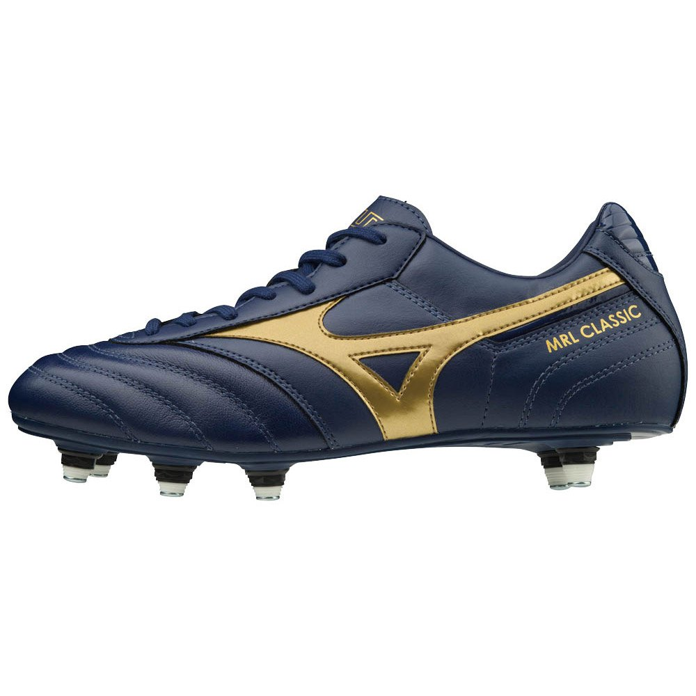 Mizuno Morelia Classic Si Football Boots EU 42 1/2 Blue Depths / Gold