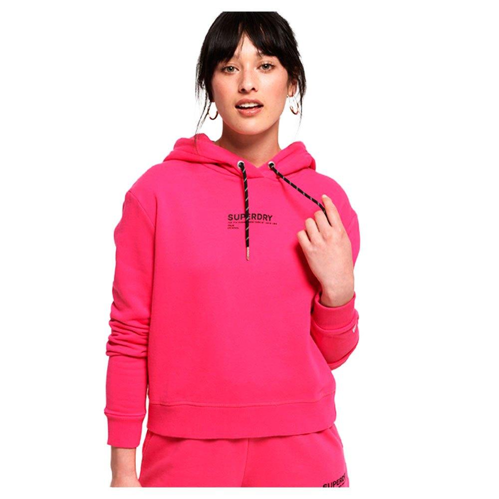 Details zu Superdry Elissa Cropped Hood Rosa T84079 Pullover Frau Rosa , Pullover Superdry