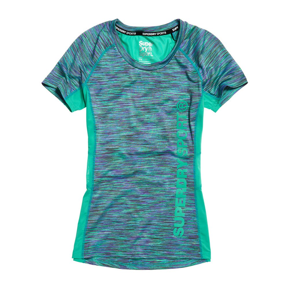 Superdry Core Fitted Mesh Panel XS Sea Glass Space Dye